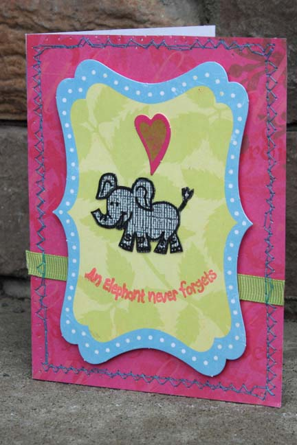 An Elephant Never Forgets card